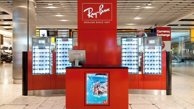 RayBan, duty free kiosk, Heathrow Airport, Terminal 5
