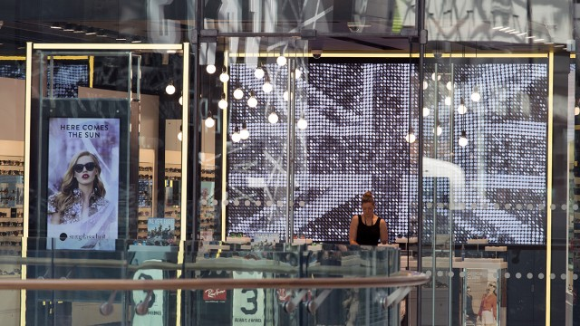 Sunglass Hut Westfield London - incorporates the largest digital screen in Europe