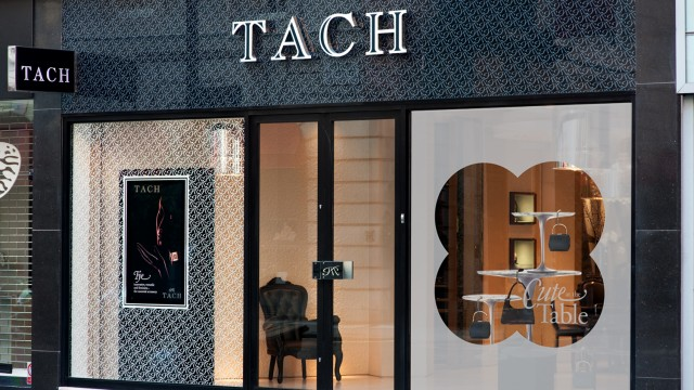 Tach digital window display and promotion